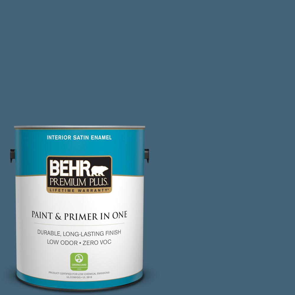 1-gal. #HDC-WR15-6 Winter Evening Zero VOC Satin Enamel Interior Paint