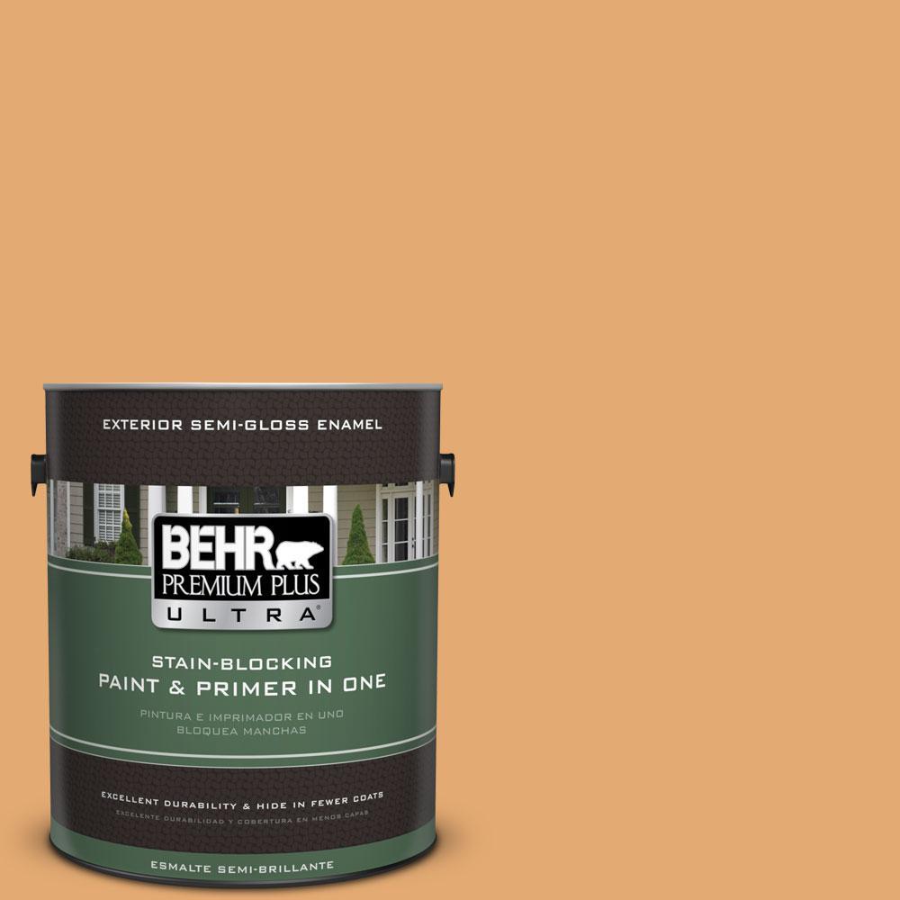BEHR Premium Plus Ultra 1-gal. #PMD-75 Autumn Gourd Semi-Gloss Enamel Exterior Paint