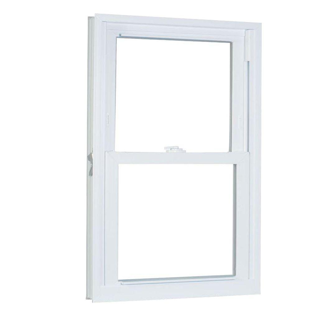 27.75 in. x 57.25 in. 70 Series Pro Double Hung White