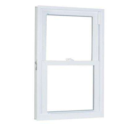 27.75 in. x 57.25 in. 70 Series Pro Double Hung White Vinyl Window with Buck Frame