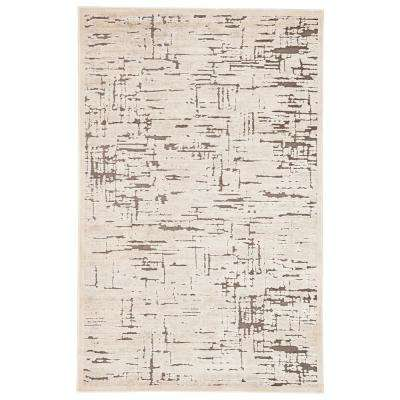 Fables Light Beige 8 ft. 10 In. x 11 ft. 9 In. Abstract Rectangle Rug