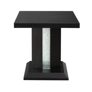 Bernice Black and LED End Table
