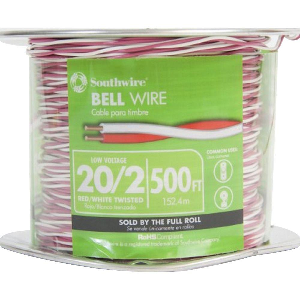 2 Conductor Bell Wire Compare Prices At Nextag 50 Feet Of 18 5 Thermostat Gauge Conductors Ebay Southwire 500 Ft 20 Twisted Cu