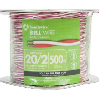 500 ft. Red/White 20/2 Twisted Bell Wire