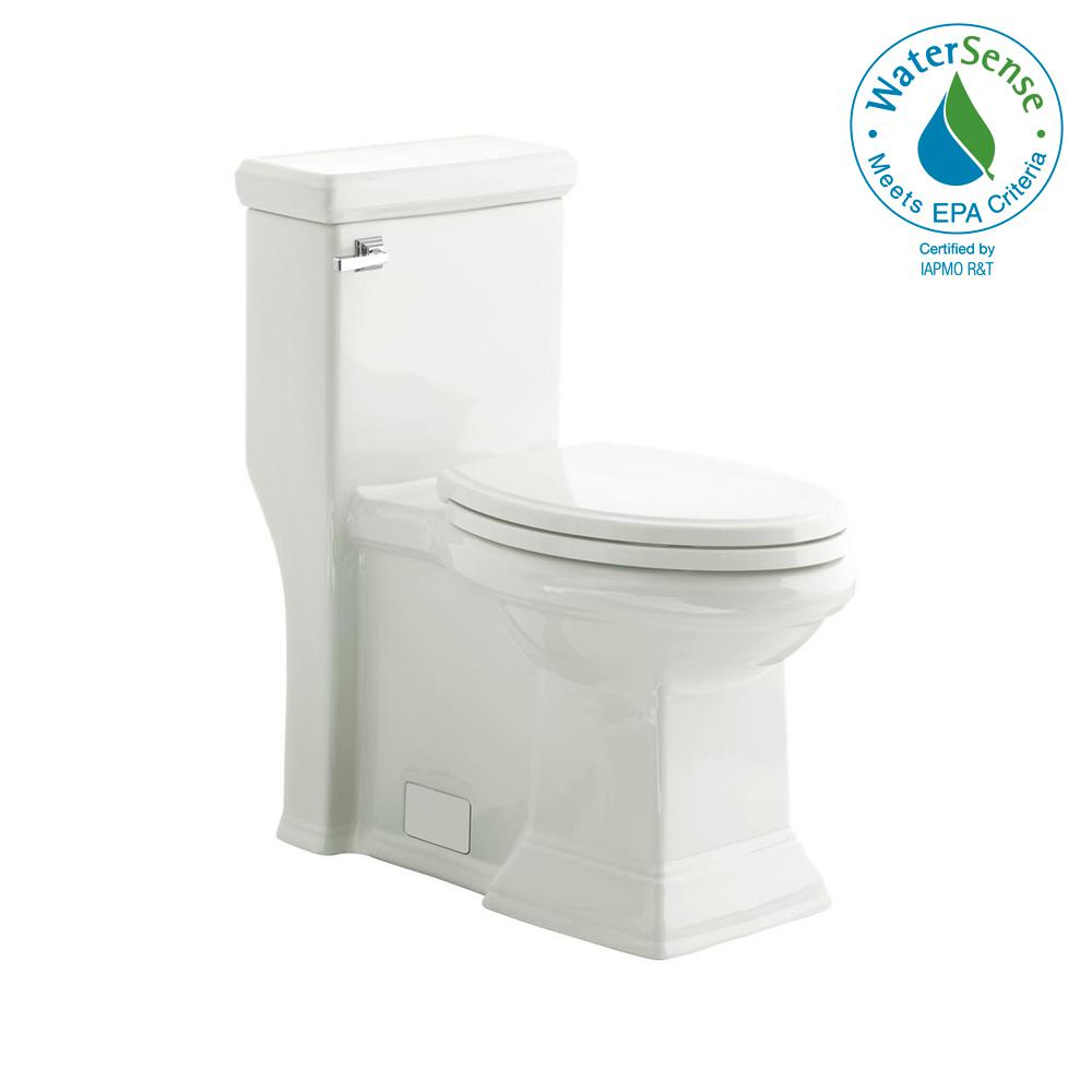 Town Square 1-piece 1.28/1.6 GPF Single Flush Elongated Toilet in White