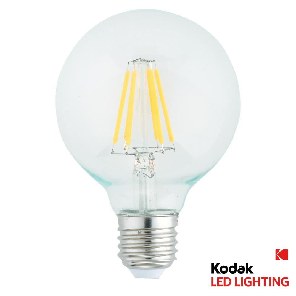 Kodak 50w Equivalent Warm White G95 Globe Dimmable Led Light Bulb 41081 The Home Depot