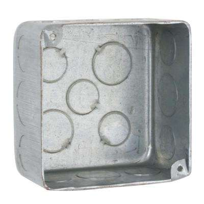 4 in. Square Drawn Plenum Box, 2-1/8 in. Deep with 1/2 & 3/4 in. KO's (25-Pack)