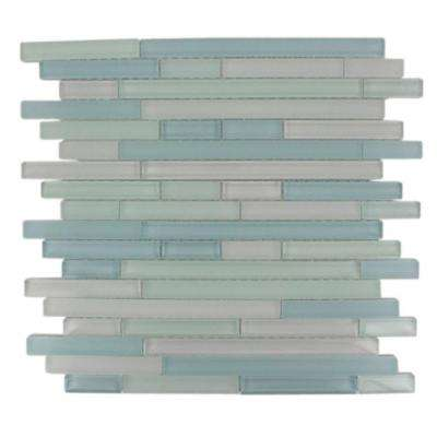 Temple Coast 12 in. x 12 in. x 8 mm Glass Mosaic Floor and Wall Tile
