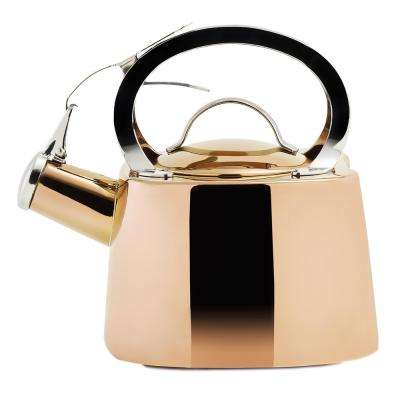 DuraCopper 8.45-Cup Stovetop Tea Kettle in Copper