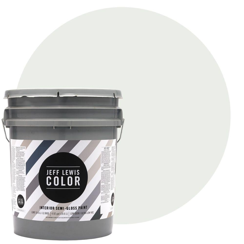 Low Voc Interior Paint: Jeff Lewis Color 5-gal. #JLC612 Cotton Semi-Gloss Ultra