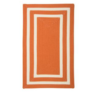 Home Decorators Collection Griffin Border Orange/White 10 Ft. X 13 Ft.  Braided Indoor/Outdoor Area Rug PY41R120X156R   The Home Depot