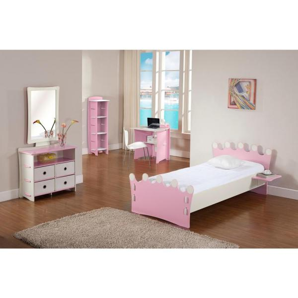 Legare Kid's 3-Shelf Gaming Stand in Princess Collection Pink Color