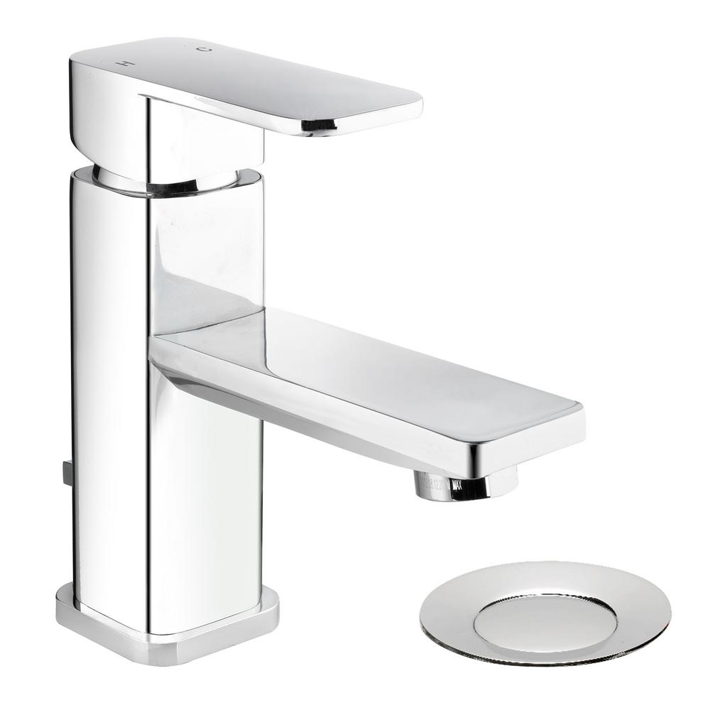 Belanger Single Hole Single-Handle Bathroom Faucet with Mechanical Pop-Up Drain in Polished Chrome