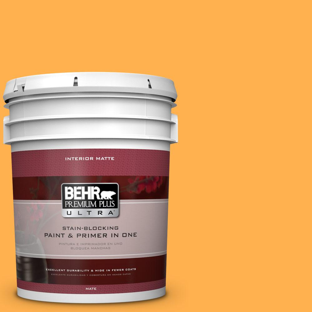 5 gal. #P250-6 Splendor Gold Matte Interior Paint