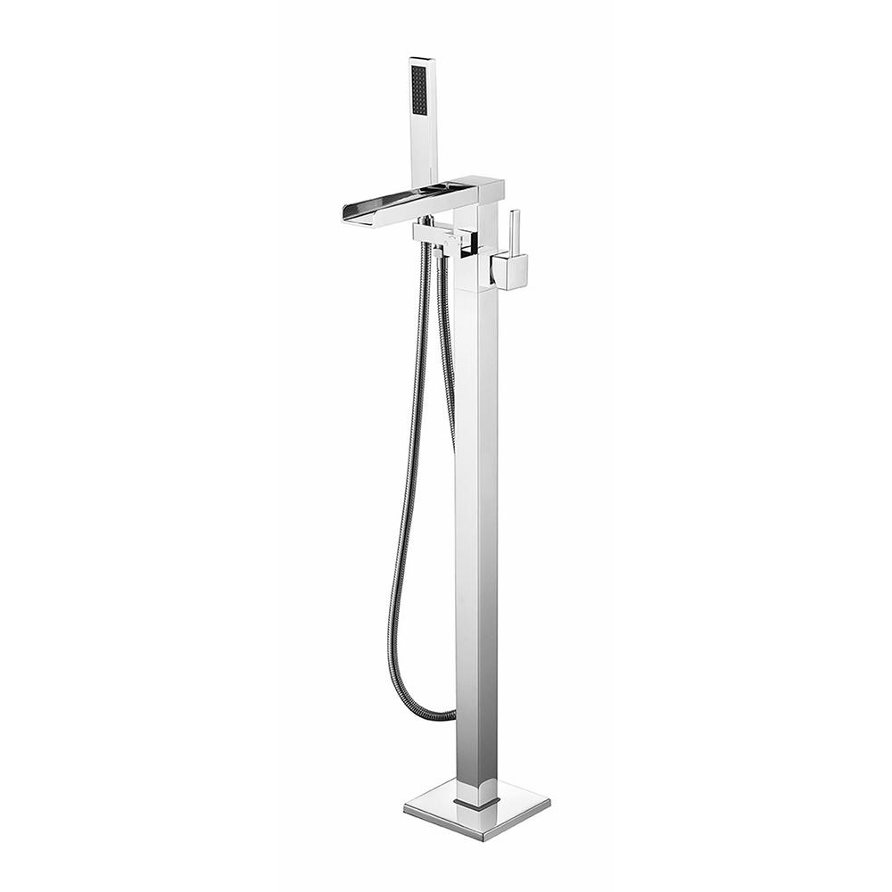 Jade Bath Vivian Single-Handle Floor-Mounted Roman Tub Faucet with ...