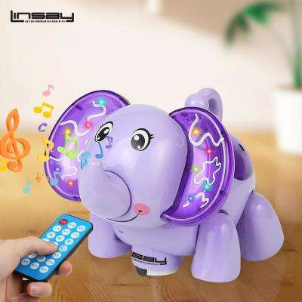 Baby Kids Smart Toy LED Light - Purple Elephant