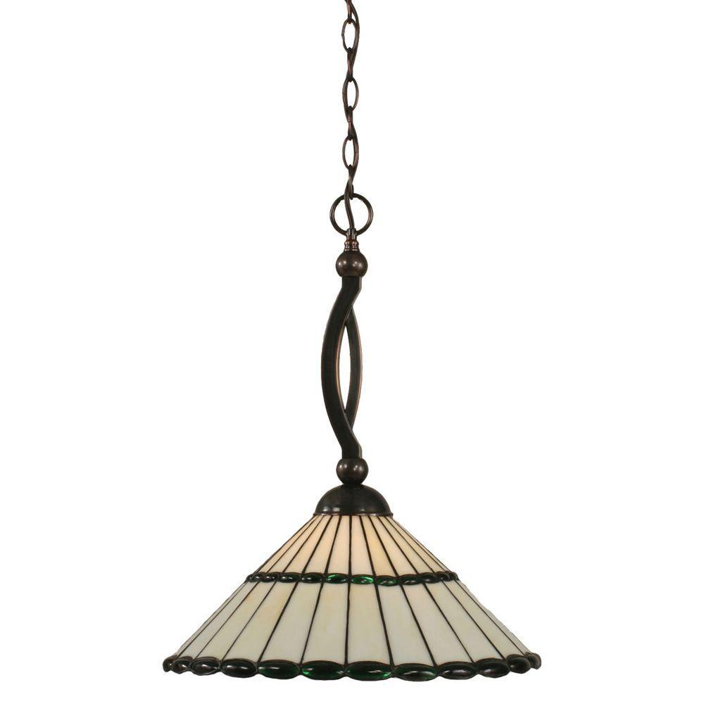 Filament Design Concord 1-Light Black Copper Pendant