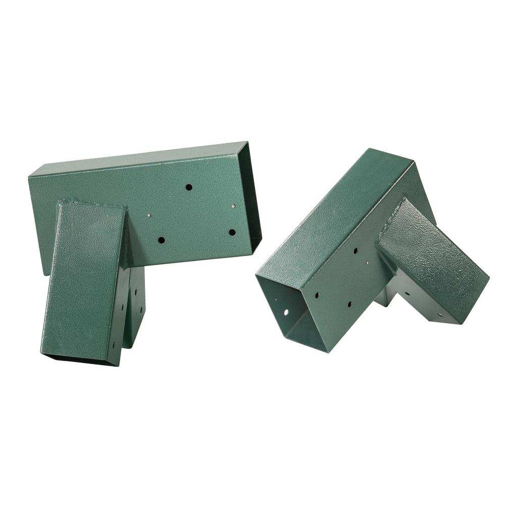 A Frame Bracket Green Powder Coating Set Of 2