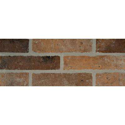 Rustico Brick 2-1/3 in. x 10 in. Glazed Porcelain Floor and Wall Tile (4.48 sq. ft. / case)