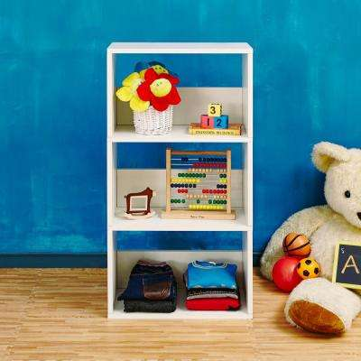 Triplet Eco zBoard Tool Free Assembly White Open Bookcase