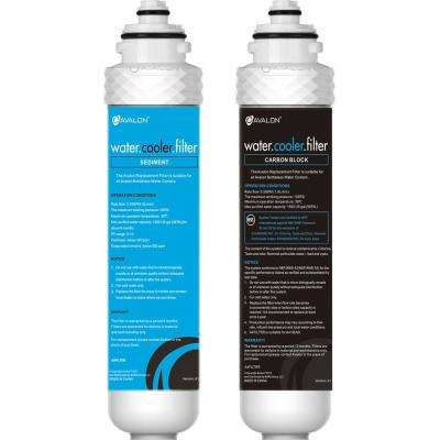 2 Stage Replacement Filters for Avalon Bottleless Water Coolers NSF Certified 1500 Gal., Purchased After April 1, 2018