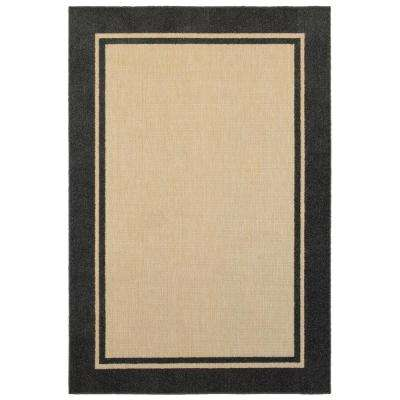 Bondi Charcoal 5 ft. 3 in. x 7 ft. 6 in. Outdoor Area Rug