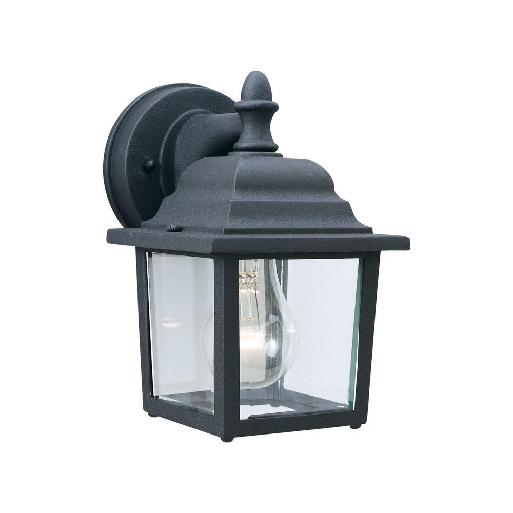 Hawthorne 1-Light Black Outdoor Wall Mount Lantern