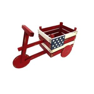 Alpine American Flag Tricycle Wood Planter by Alpine