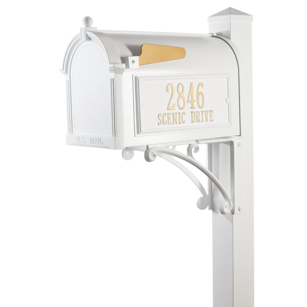 white mailbox numbers home depot
