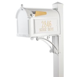 Whitehall Products Superior White Streetside Mailbox-16316
