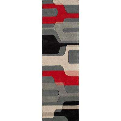 Delhi Black 2 ft. x 8 ft. Indoor Runner Rug