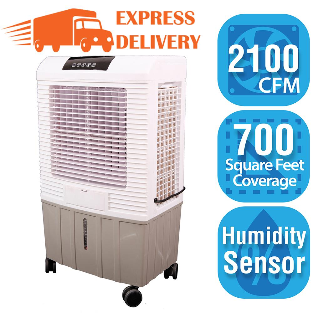 Hessaire 2,100 CFM 3-Speed Portable Evaporative Cooler (Swamp Cooler) for 700 sq. ft., Gray -  MC26A