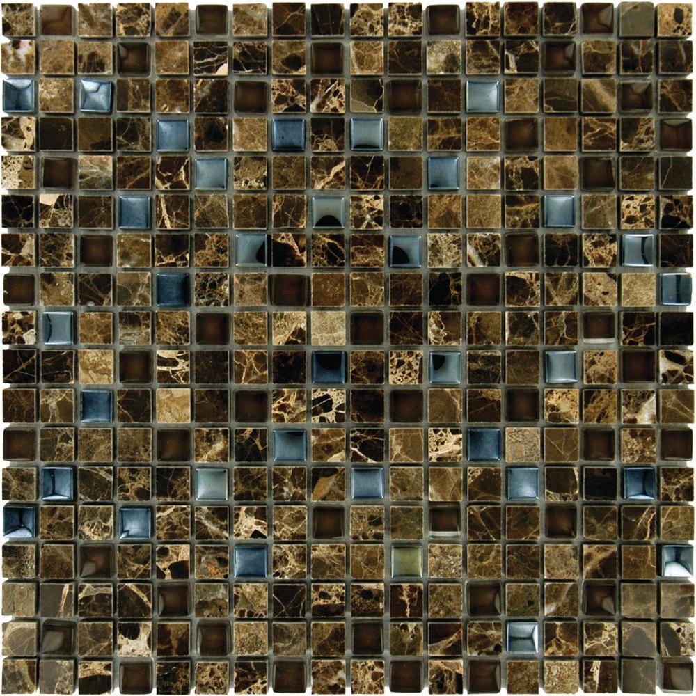 Emperador 12 in. x 12 in. x 8 mm Glass Stone