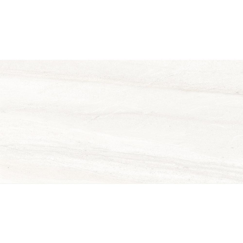Fairfield White Matte 12 in. x 24 in. Glazed Porcelain Floor