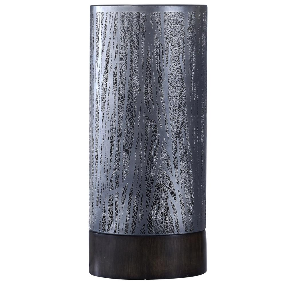 StyleCraft 24 in. Black Nickel Table Lamp with Shade