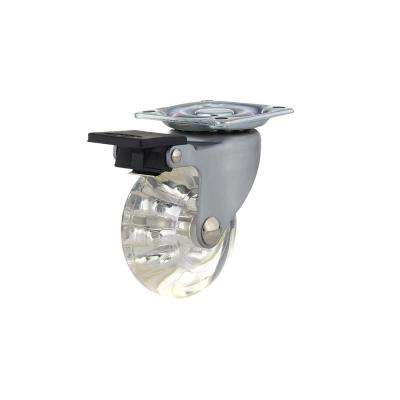 50 mm Clear Plate and Brake Caster