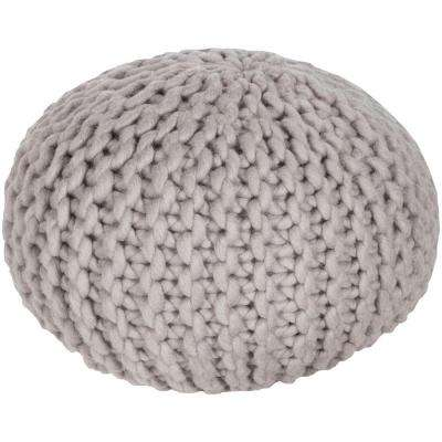 Ahanu Taupe Accent Pouf