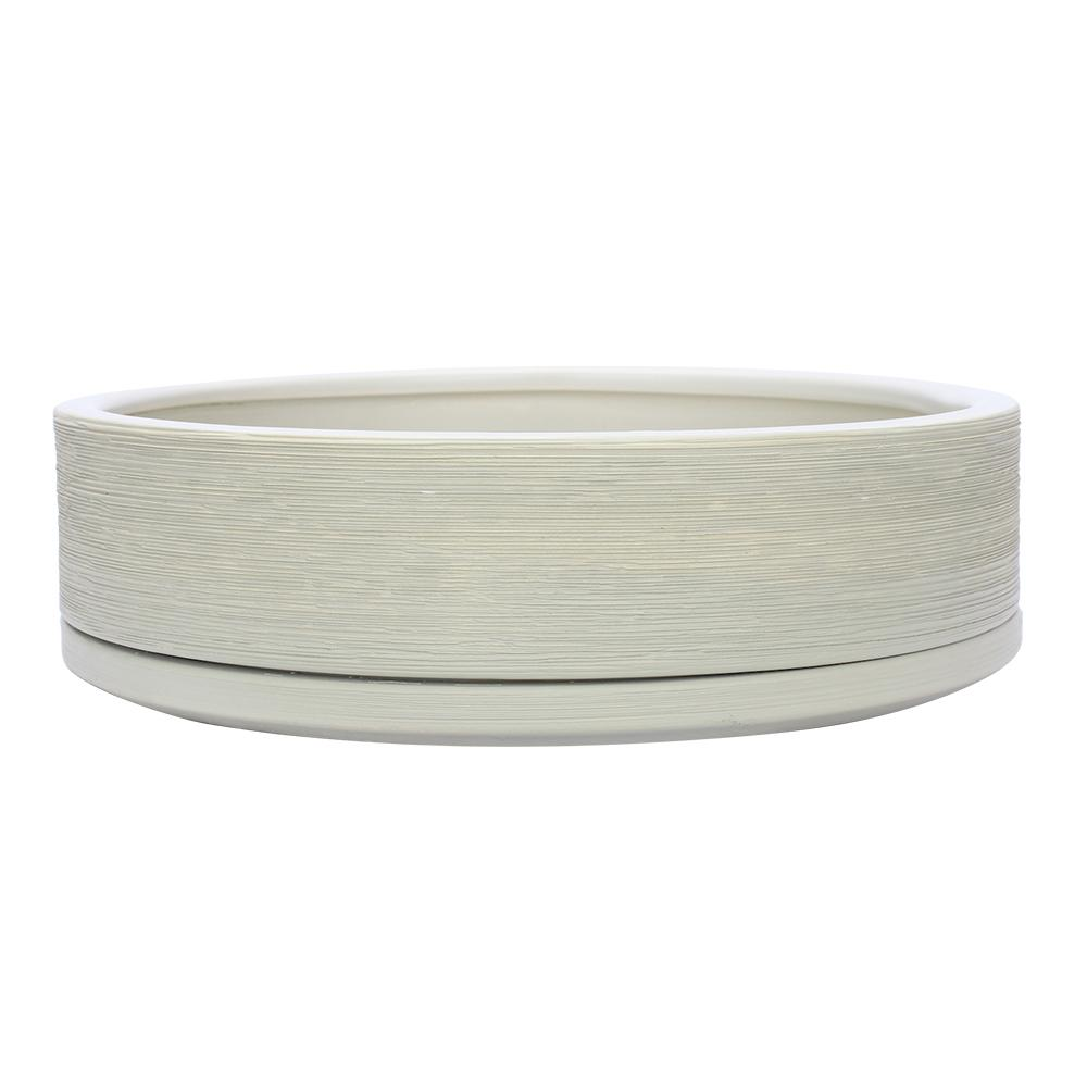 Southern Patio Southern Patio Liesl 9.8 in. Dia Beige Ceramic Bowl, Ivory
