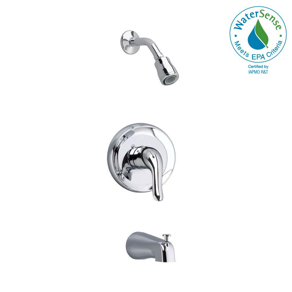 Colony Soft 1-Handle Tub and Shower Faucet Trim Kit in Polished