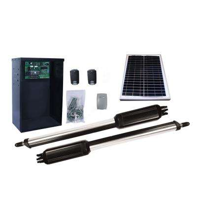 Dual Swing Automatic Gate Opener Kit with 10-Watt Solar Panel