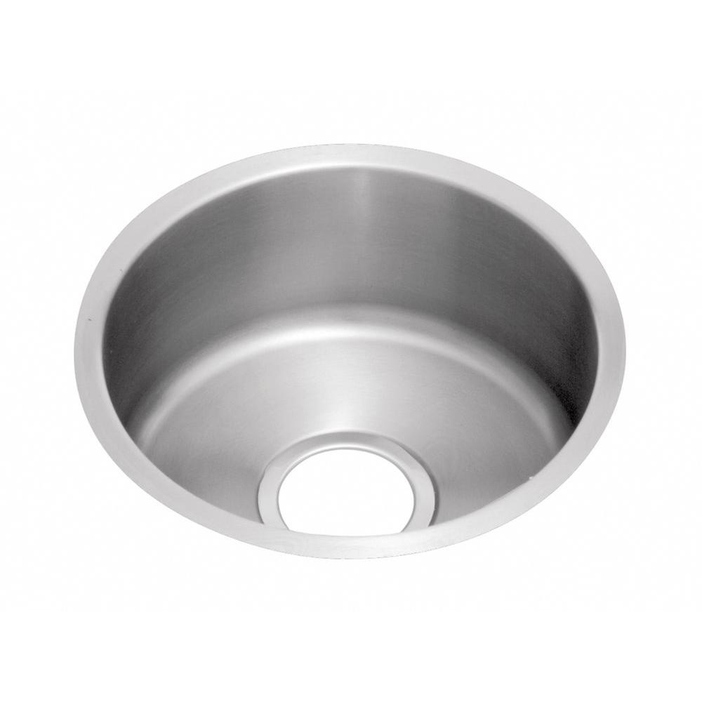 Elkay Lustertone Undermount Stainless Steel 18 In Bar Sink Eluh16fb