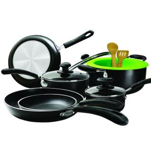 Click here to buy Ecolution Heavy Weight 12-Piece Black Cookware Set with Lids by Ecolution.