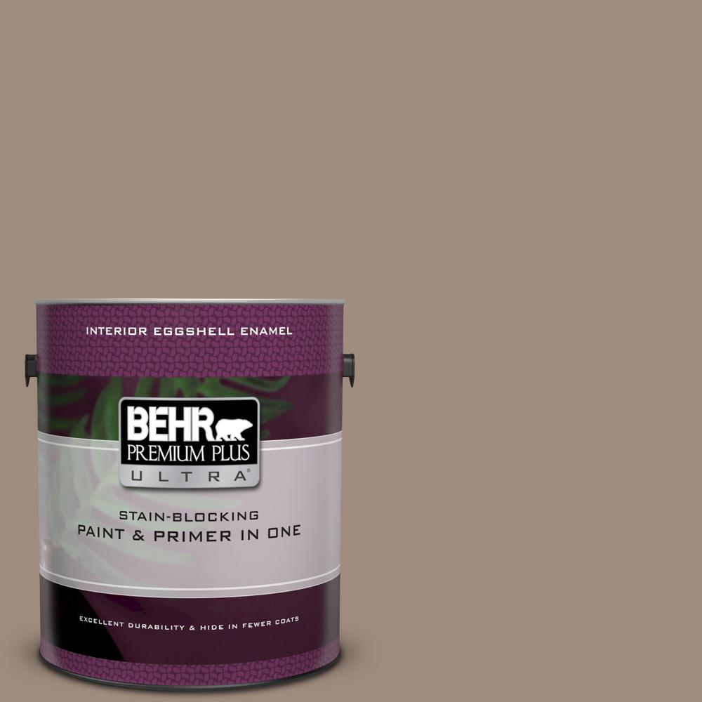 BEHR Premium Plus Ultra 1 gal  #UL140-6 Antique Leather Eggshell Enamel  Interior Paint and Primer in One