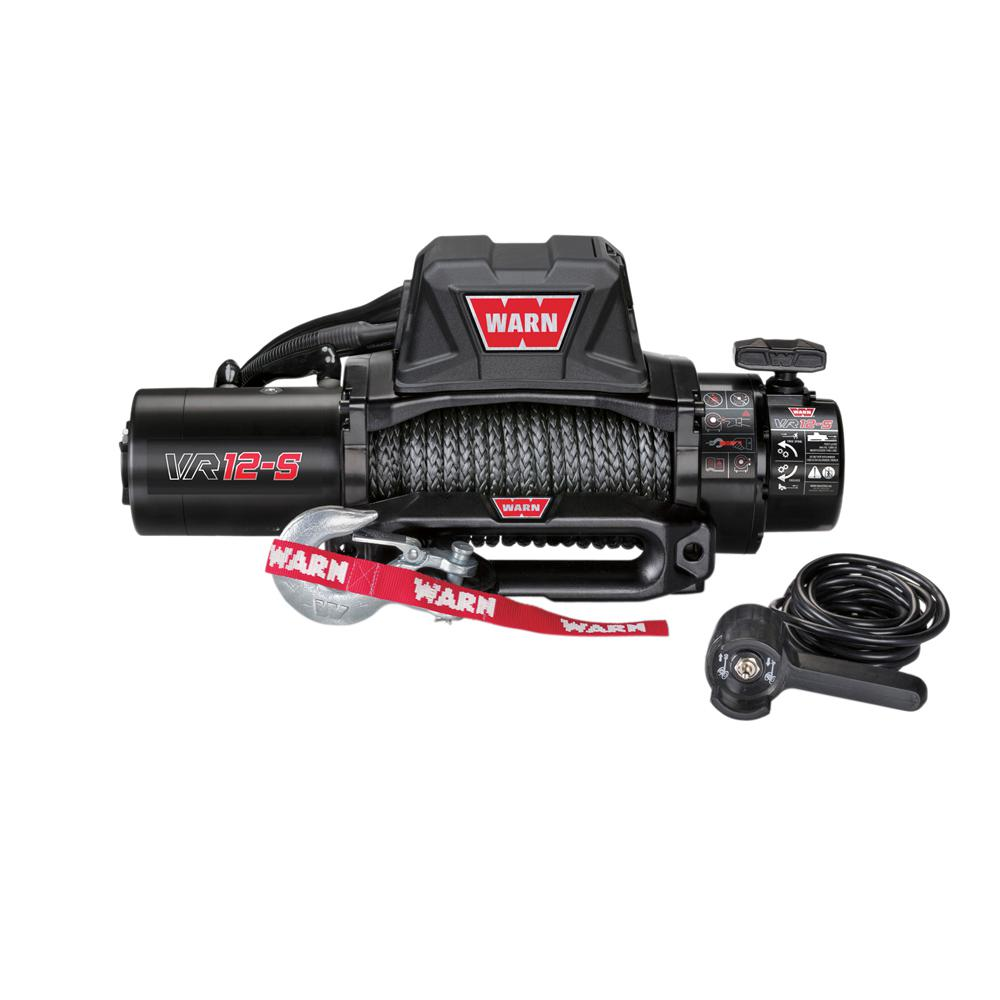 Warn VR12-S 12,000 lb. Winch with Synthetic Rope
