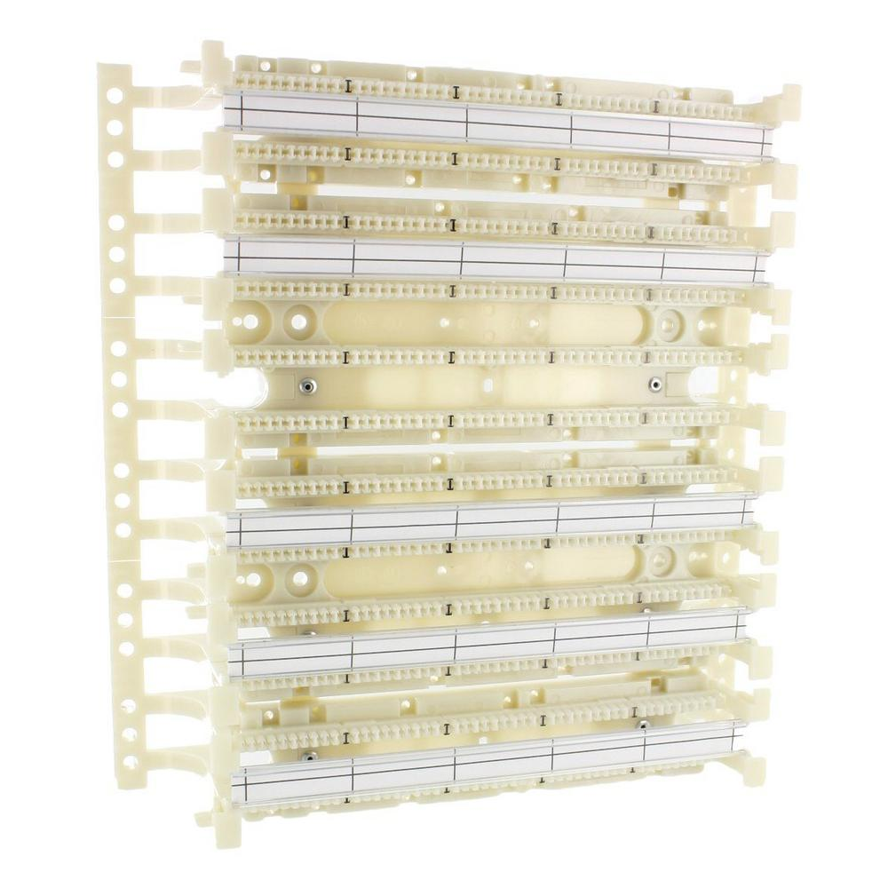 Cat 5e 110-Style Wiring Block Wall Mount with Legs, Ivory (300-Pair)
