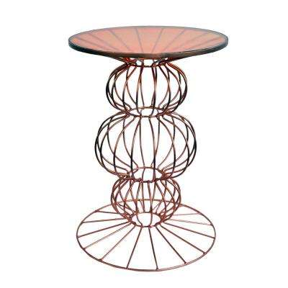 Oriane Copper Spherical Base Side Table