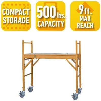 4 ft. x 2 ft. x 4 ft. Mini Multi-Use Drywall Baker Scaffold with 500 lb. Load Capacity
