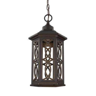 Ormsby Antique Bronze 1-Light Outdoor Hanging Pendant