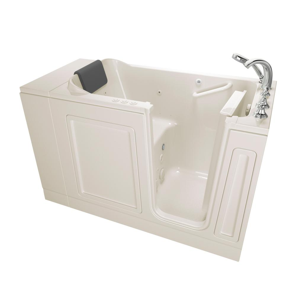 Acrylic Luxury 4 ft. Walk-In Whirlpool and Air Bathtub in Linen