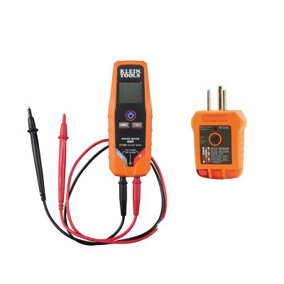 AC/DC Voltage/Continuity Tester and GFCI Receptacle Tester Tool Set